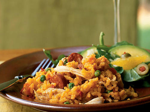 Turkey-Sausage Paella