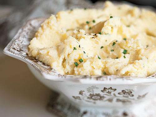 A holiday table would be incomplete without mashed potatoes. This garlicky version boasts all of the savory richness of traditional recipes without adding extra fat and calories. The secret? Yukon Gold potatoes, which need little adornment thanks to their buttery flavor and creamy texture.