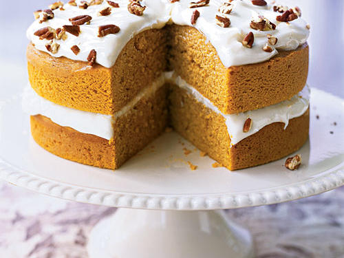 """My boyfriend adores pumpkin pie, but I went out on a limb and made the Pumpkin Pie Cake last winter. Now he has a new favorite holiday dessert. The great thing about this cake is that it looks and tastes like you spent the whole day slaving over it, when in reality it couldn't be easier or more beautiful.""