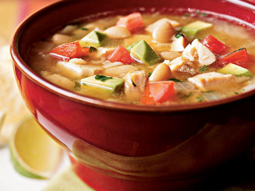 This top-rated Southwestern soup is a great way to use up leftover chicken. The creamy chunks of avocado add a richness that's unusual to find in most chicken soups.