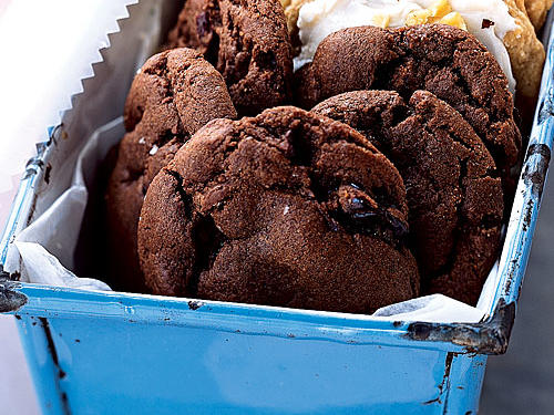 Chewy Chocolate-Cherry Cookies - Recipes