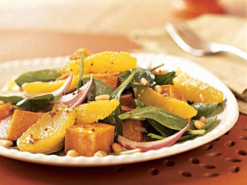 Roasted Sweet Potato and Orange Salad Recipe