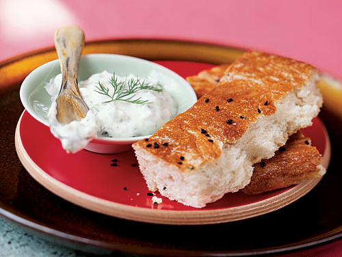 Pide with Yogurt Dip