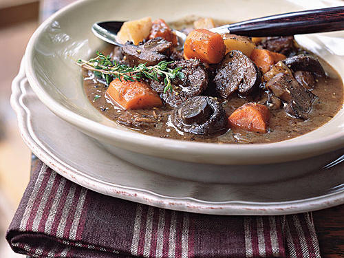 This classic beef stew recipe has all you expect in beef stew: tender chunks of beef, carrot and potato. Yet the cremini mushrooms are a wonderful surprise.