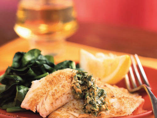 Any mild white fish such as cod, flounder, or orange roughy would also be delicious in place of tilapia. Serve these brightly flavored fillets with sautéed spinach or a green salad.