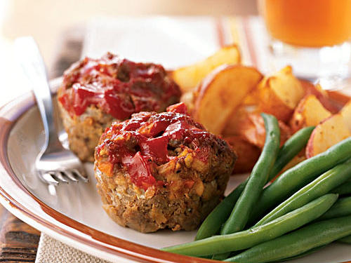 Meat Loaf 'Muffins' Healthy Recipe