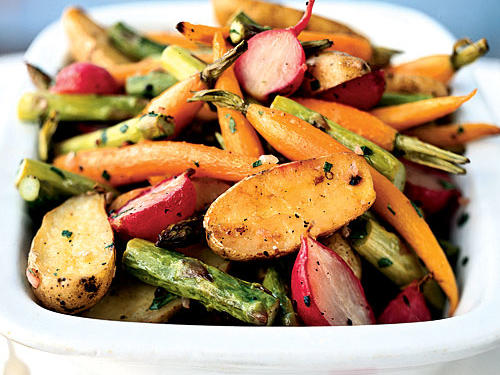 1004 Roasted Baby Spring Vegetables
