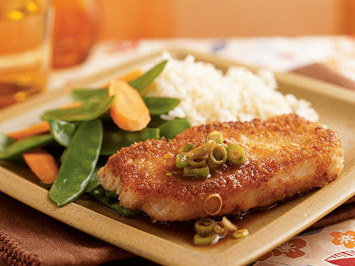 Wasabi and Panko-Crusted Pork with Gingered Soy Sauce Recipe
