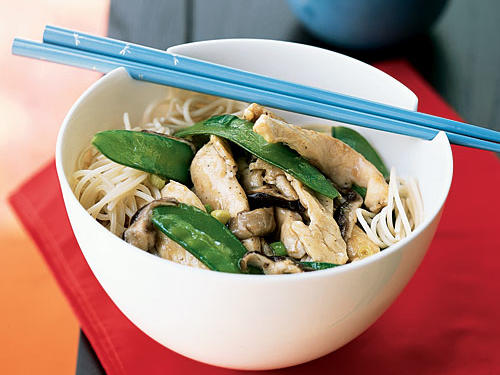 Wild Mushroom and Chicken Stir-Fry