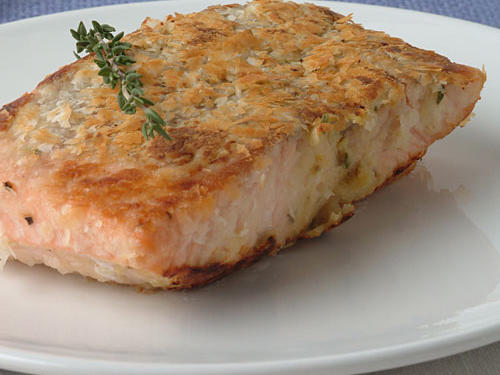 Potato and Double-Horseradish Salmon