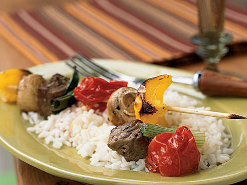 Using the broiler lets you enjoy the taste of kebabs year-round; they are also great cooked on the grill. Serve over rice.