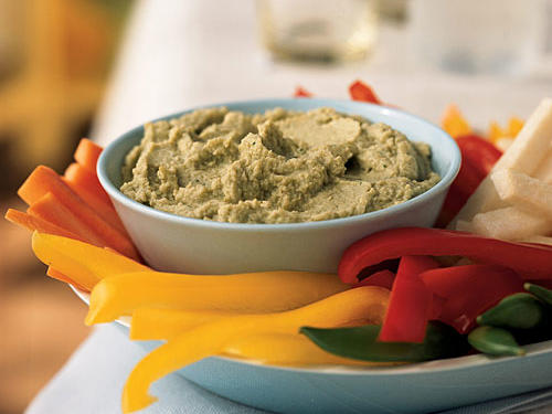 "Unlike most other plant sources of protein, soy contains all the building blocks (also known as ""amino acids"") that the body needs. Pair up this dip with some whole grain crackers for a satisfying afternoon snack before heading to the gym or spread on a sandwich for a mid-day protein boost.Recipe: Edamame Dip"