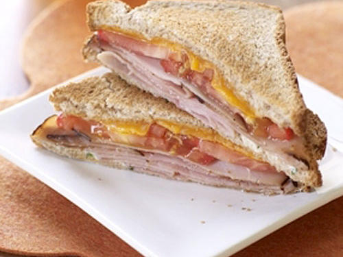 Lunch Option 1: Ham and Cheese Sandwich