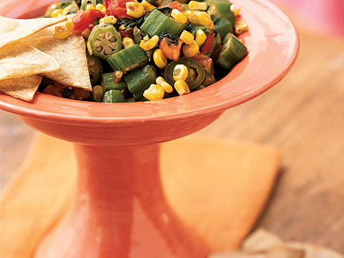 Okra, Corn, and Jalapeño Skillet Salsa