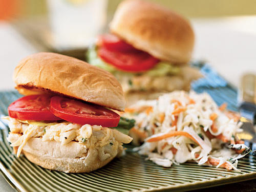 "These mini-sandwiches bring a note of elegance to any picnic. Try stacecz's variation if crab's not your favorite: ""I used shrimp instead of crab and it was still delicious. I defrosted frozen shrimp and ran them through the food processor and it turned out extremely well!"""