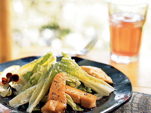 Prepare the dressing up to a day ahead. Coho salmon is especially good in this salad.