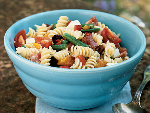 Rotini Salad with Kalamata Olive Dressing Recipe