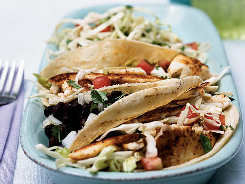 California: Fish Tacos with Cabbage Slaw