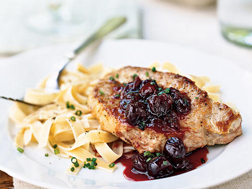 Pork Chops with Cherry Preserves Sauce Recipes