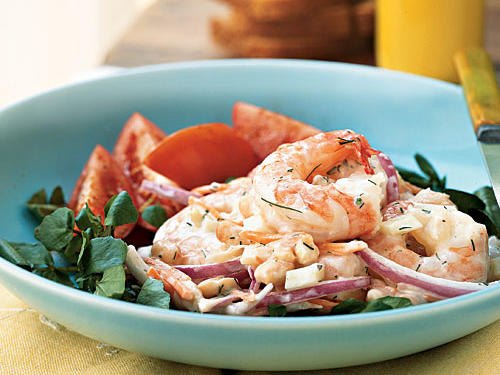 1008 Shrimp and White Bean Salad with Creamy Lemon-Dill Dressing