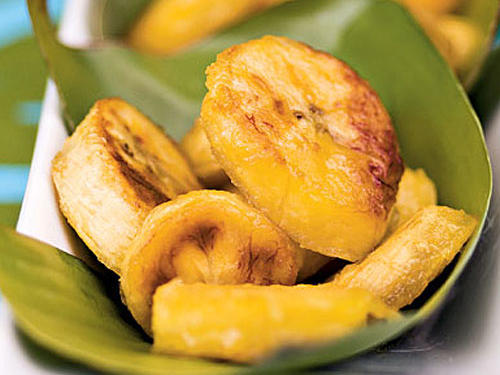 """Maduros,"" or sautéed sweet plantains, are a common side in the Caribbean and parts of Latin America. They can also be served as a dessert."
