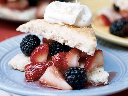 Make the shortcakes up to two days ahead, and store in an airtight container. Use a serrated knife to cut in half before serving. Prepare the berry filling up to 12 hours ahead, and refrigerate until serving. Use any combination of fresh berries available.