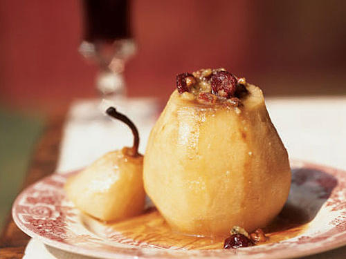 Stilton-Stuffed Baked Pears