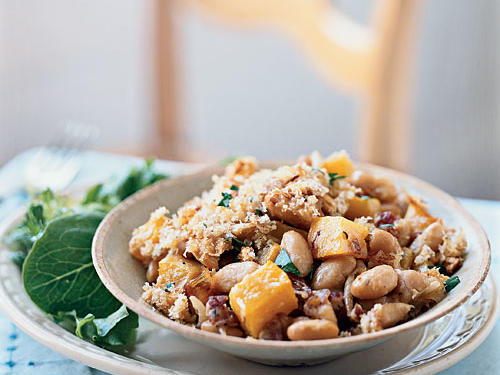Roasted Garlic and Butternut Squash Cassoulet