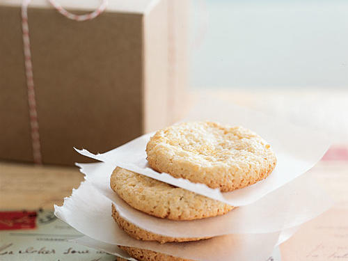 Package these crunchy cookies in a gift box with a pound of your favorite coffee beans. Look for almond paste in your supermarket's baking aisle, and for best results, don't substitute marzipan, which is sweeter and more finely textured, in place of the paste.