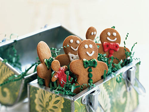 Let your creativity run wild with these cute classics. Underneath, there's a tasty and reliable cookie spiced with ginger and other warm flavors, but the real fun is in the decorating. A basic glaze and colored sugar are your palette to create a varied cast of gingerbread people. Get the whole family involved!