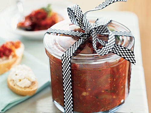Spoon this sweet-savory jam into a pretty glass jar, and tie with a ribbon. You can also attach a rosemary sprig and a card with serving suggestions―as an appetizer spread on baguette slices with goat cheese; as a chutney over chicken, beef, or pork; or as the sauce for a pizza with shredded chicken, goat cheese, and chives.