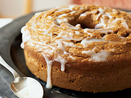 1304 Pumpkin Pound Cake with Buttermilk Glaze