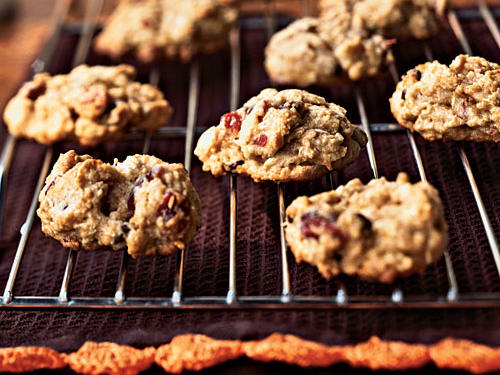 Healthy Cranberry-Nut Chocolate Chip Cookies Recipe