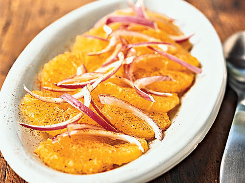 Orange and Red Onion Salad with Red Pepper Recipes