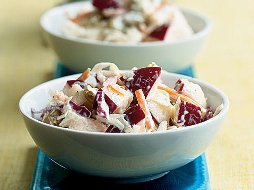 New-Fashioned Apple and Raisin Slaw