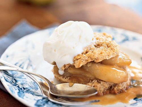 Spiced Shortcakes with Sauteed Pears