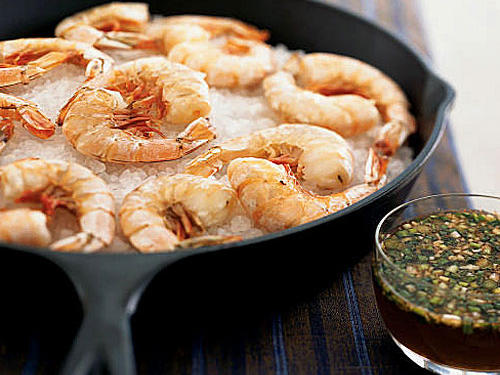 1303 Salt-Roasted Shrimp with Lemon-Honey Dipping Sauce
