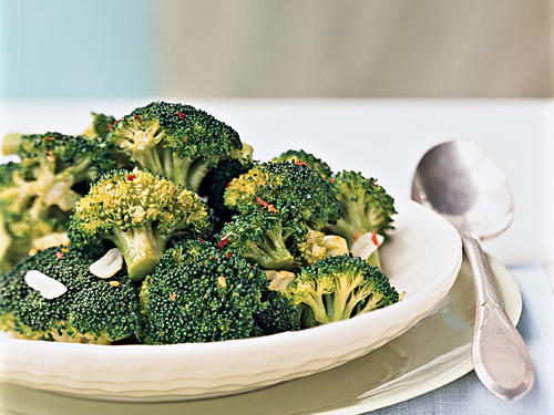 Pick one day a week to plan your meals and make sure to account for your vegetable and fruit servings. This adaptable broccoli recipe is a nice addition to your list: As is, it's perfect with Mediterranean-inspired pasta dishes. Swap out sesame oil for olive oil and serve with teriyaki-glazed pork or chicken thighs. The best part: it's ready in just 4 minutes.View Recipe: Broccoli with Red Pepper Flakes and Toasted GarlicFind more: Superfast Side-Dish Recipes