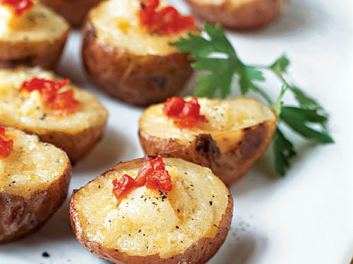 Smoked Salmon and Cheese Mini Twice-Baked Potatoes