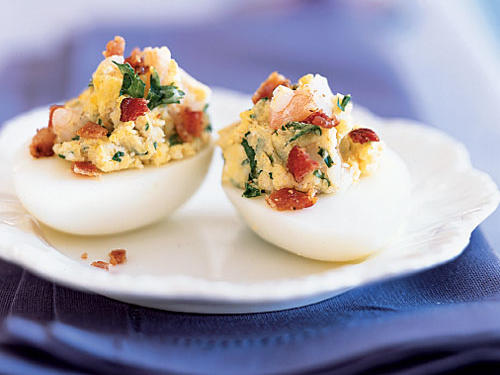 Healthy Shrimp and Bacon Deviled Eggs Recipe