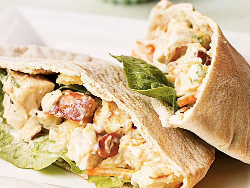 Healthy Pineapple Chicken Salad Pitas Recipe
