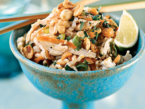 Peanuts add the perfect savory flavor to this Asian-inspired healthy dinner.