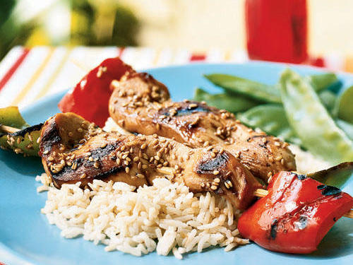 Healthy Marinade: Chicken Skewers with Soy-Mirin Marinade