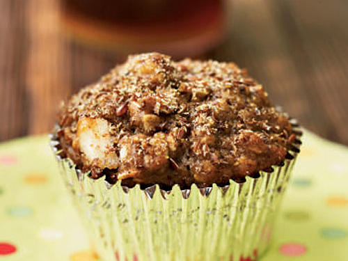 The whole-wheat flour—not to mention dried fruits, nuts, oatmeal, and wheat bran—contribute plenty of fiber to each Morning Glory Muffin. Substitute apricots or raisins for chopped pitted dates in this recipe if you like. Complete your breakfast with fat-free yogurt and fruit.