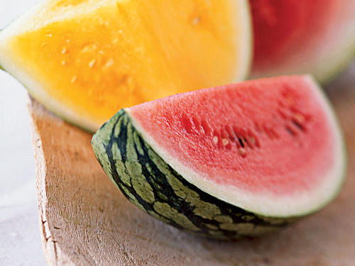 No room for a 20-pound watermelon? Pureheart and Sugar Baby are crossbred micromelons that grow to the size of a cantaloupe or smaller. Flavor can vary and depends largely on proper harvesting, so buy from someone you trust.