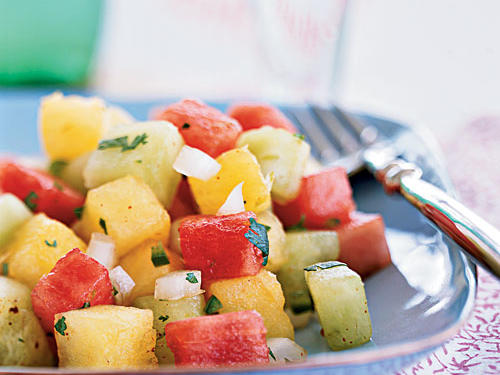 Picante Three-Melon Salad Recipe