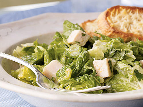 Romaine and Turkey Slalad with Creamy Avocado Dressing recipe
