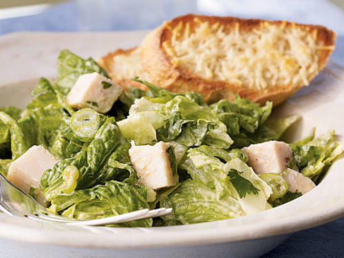 Romaine and Turkey Salad with Creamy Avocado Dressing