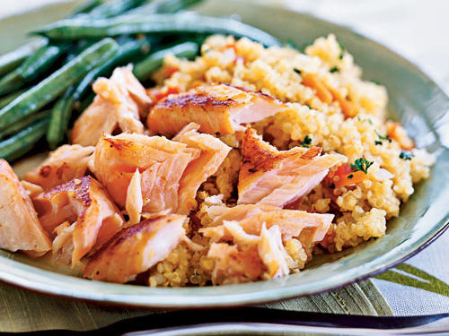 Cooking with quinoa 31 recipes cooking light quick cured sake salmon with quinoa recipe forumfinder Image collections