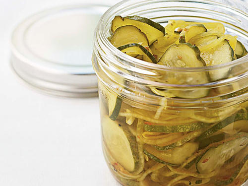One dill pickle spear contains a whopping 320 mg sodium. Making these refrigerator pickles yourself only takes a few minutes and the sodium content comes in at a mere 64 mg per quarter cup serving.Recipe: Easy Refrigerator Pickles
